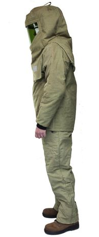 CPA 44 Cal Arc Flash Suit with Jacket and Bib Overall AG44 - Side View