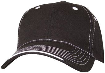 RefrigiWear 6197 Structured Cap Dozen Black