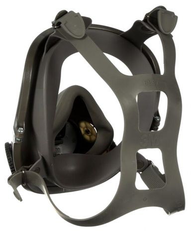 3M 6000 Series Full Face Respirator with DIN Port - 6700DIN Back
