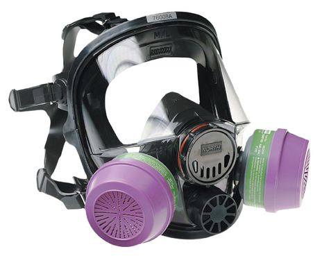 North Safety 7600-Series Respirator Full Face Mask 760008A
