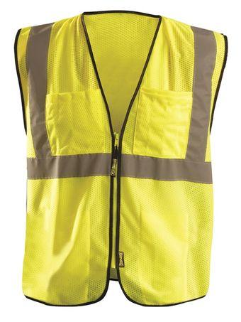 Occunomix ECO-GCS High Visibility Mesh Surveyor Vest Front Yellow