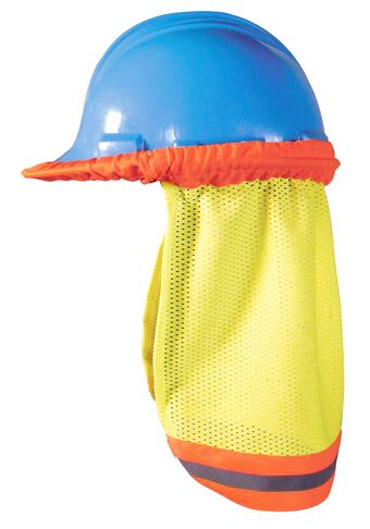 OK-1 Hi Vis Neck Sun Shade 5057009 - Hard Hat Mount, Mesh