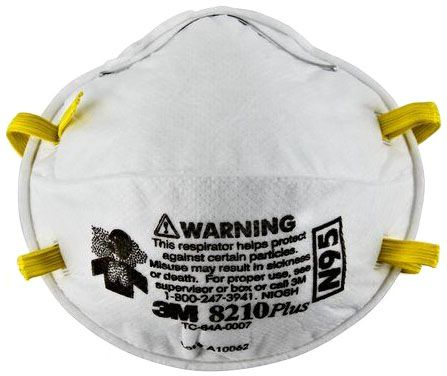 3M Particulate Respirator 8210Plus - N95 Front