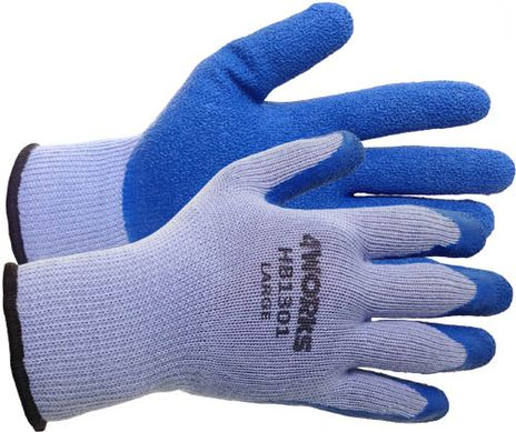 4Works HB1301 Latex Coated Palm Gloves - Crinkle Palm Finish