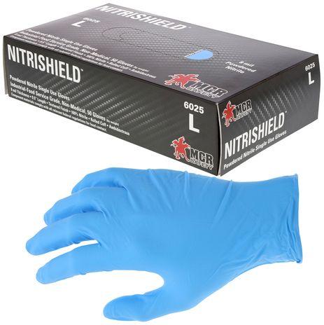 MCR Safety NitriShield Nitrile Disposable Gloves 6025 Powdered