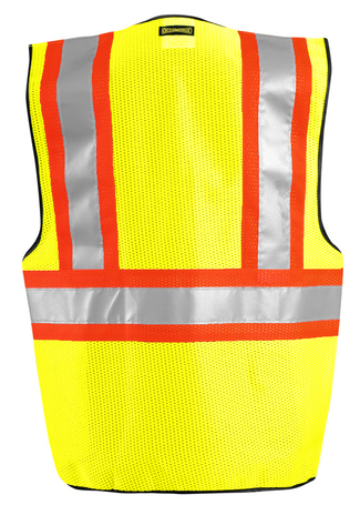 Occunomix OccuLux Two-Tone, Cool Mesh, and High Vis Vest LUX-SSCOOL2 Back