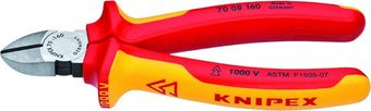 """Knipex 6.25"""" Insulated Diagonal Cutters 70 08 160"""