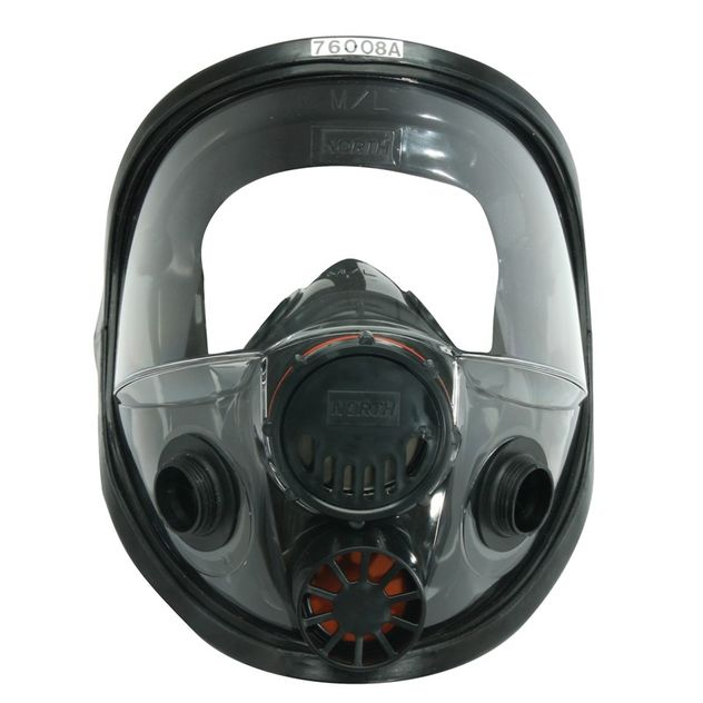 honeywell north safety 7600 series respirator full face mask 760008a premium elastomeric front