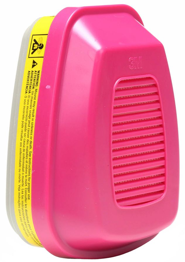 3M 60923 Organic Vapor/Acid Gas Cartridges with P100 Filter Front