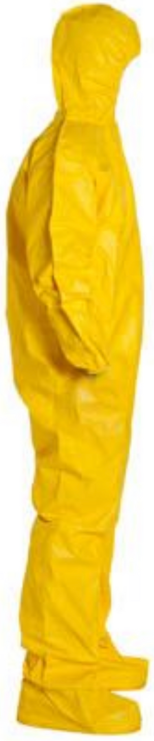 DuPont Tychem QC Suit with Hood - Socks - Elastic Wrists & Ankles - QC122 Right Side