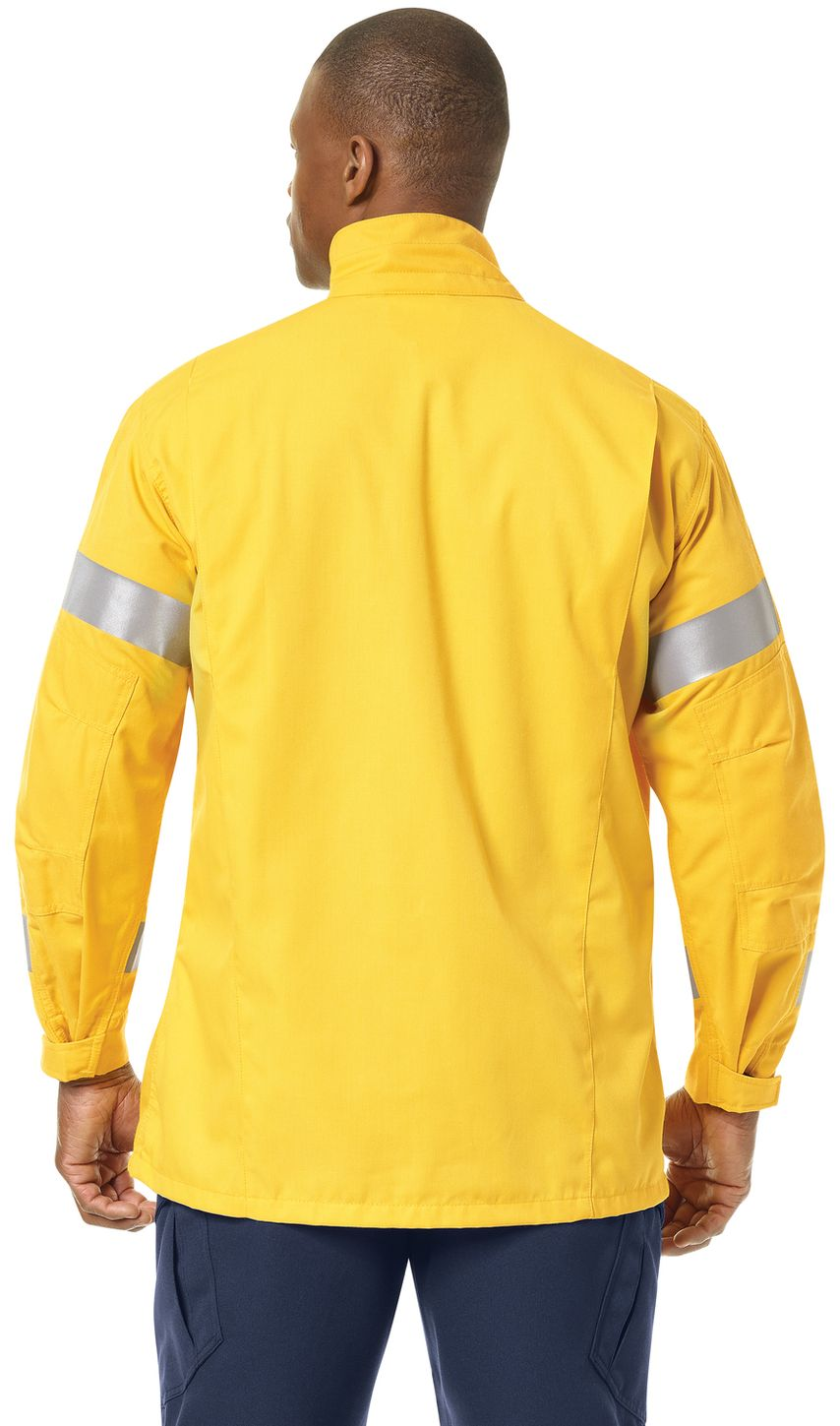 Workrite FR Jacket FW81, Relaxed Fit Wildland Yellow Example Back