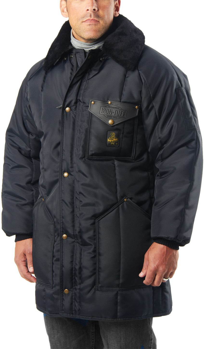 RefrigiWea 0361 Iron-Tuff Winterseal Cold Weather Work Coat Thigh Length Example