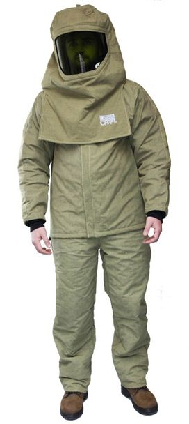 CPA 44 Cal Arc Flash Suit with Jacket and Pants AG44-JP - Front View
