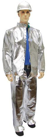 Otterlayer aluminized suit jacket removable sleeves opened leggings hip front full he LV4-ACF