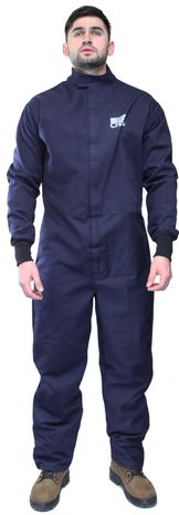 Front View of 32 Cal Coverall In Arc Flash Suit AG32-CV
