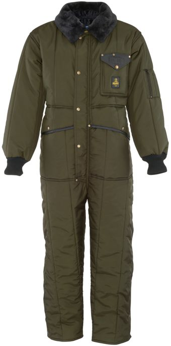 RefrigiWear 0344 Iron-Tuff Insulated Work Coverall Sage Front