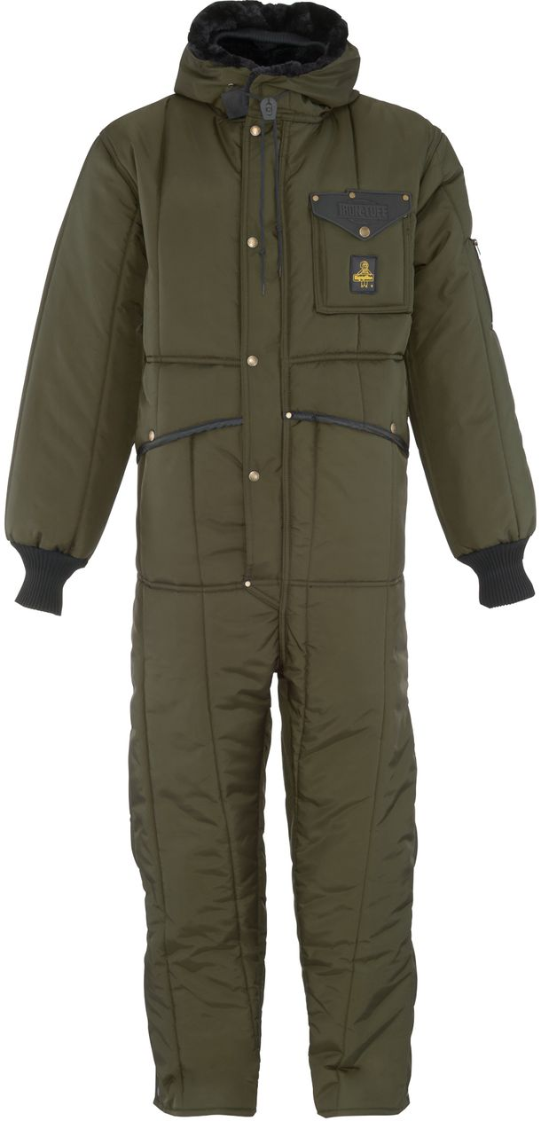 RefrigiWear 0381 Iron-Tuff Winter Work Coverall With Hood Sage Front