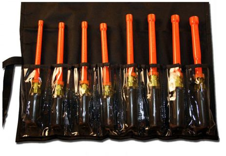 Cementex TR-8NDXL-C Insulated Composite XL Nut Driver Roll, 8PC