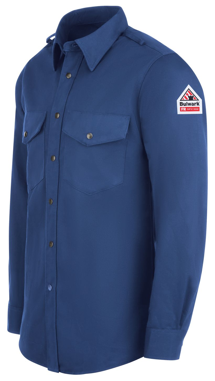 bulwark-fr-shirt-ses2-midweight-excel-snap-front-uniform-royal-blue-left.jpg