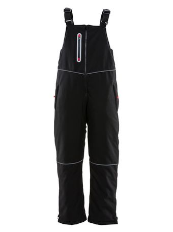 refrigiwear-7123-women's-insulated-softshell-bib-overalls-blk-front