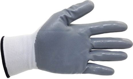 4Works HR1202 Nitrile Palm Gloves - Front View