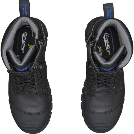 """Blundstone 997 XFOOT Rubber Ankle Lace-Up Steel Toe Boots - 6"""", Water Resistant Resistant Up"""