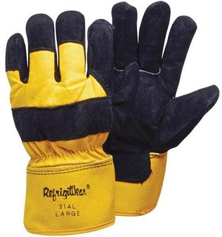 RefrigiWear Cold Weather Apparel - Cowhide and Canvas Gloves 0314