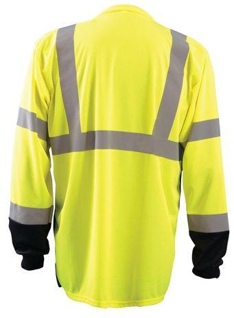 Occunomix LUX-LSETPBK Hi-Viz Long Sleeve T-Shirt, Class 3 Back