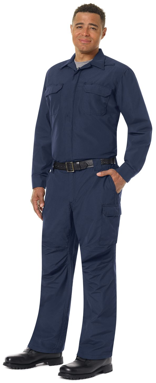 Workrite FR Shirt Jacket FST2, Ripstop, Tactical Navy Example Left