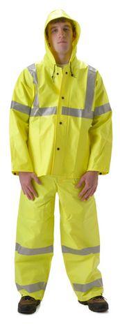nasco workchoice yellow hi viz waterproof work suit