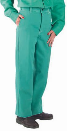 Chicago Protective Apparel Fire Resistant Pants 9oz Green Proban
