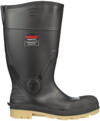 """Tingley 51254 Profile PVC Work Boots 15"""" Tall, Composite Safety Toes Side"""