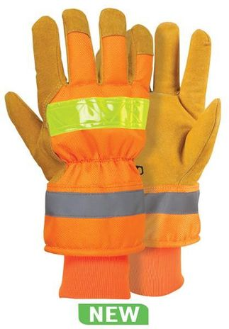 RefrigiWear Cold Weather Apparel - HiVis™ Pig and Poly Glove 0514
