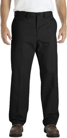 Dickies Men's Pants - Industrial Flat Front Comfort Waist Pant LP817 - Black
