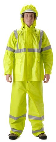 nasco arclite hi vis fire resistant yellow rain suit