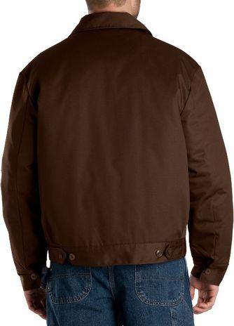 Dickies Men's Outerwear - Lined Eisenhower Jacket TJ15 - Dark Brown