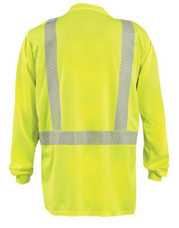Occunomix LUX-TLSP2B Long Sleeve Segmented Tape T-Shirt w/Pocket Back