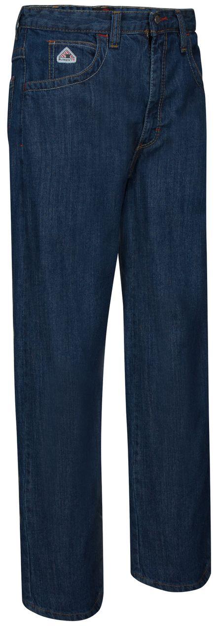 Workrite 418ID14DN28-XX Flame Resistant 14 oz Indura Jean-Cut Pant Open Inseam Denim 28 Waist Size