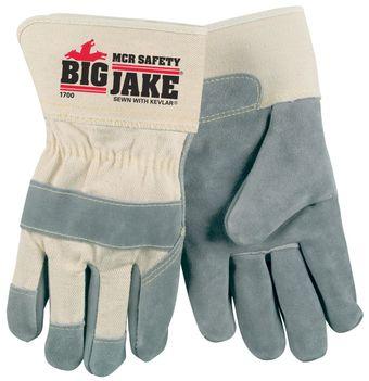 MCR Safety Big Jake Gloves 1700 Leather Palms