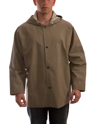 Tingley J12148 Magnaprene™ Flame Resistant Rain Jacket - Neoprene Coated, Chemical Resistant, with Attached Hood Front