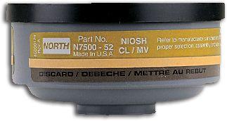 North Safety N750052L Mercury Vapor Cartridges for Respirators