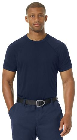 Workrite FR Station Wear Tee FT36, Base Layer, Athletic Style Navy Example Front