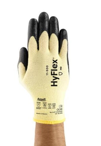 Ansell HyFlex Cut Resistant Gloves 11-500 - Foam Nitrile Coated Aramid Back
