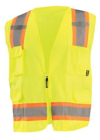 Occunomix ECO-ATRANS Value Two-Tone Surveyor Solid Vest Front Yellow