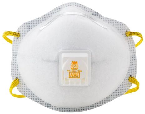 3M Particulate Respirators 8516 - N95 Front