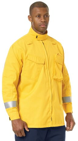 Workrite FR Jacket FW81, Relaxed Fit Wildland Yellow Example Right