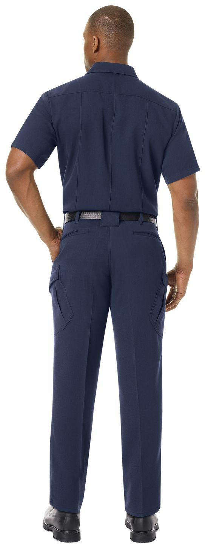 Workrite FR Shirt FSM2, Station No. 73, Uniform Navy Example Back