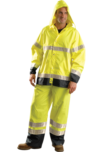 Occunomix LUX-TJRGT High Visibility Breathable Waterproof Rain Jacket