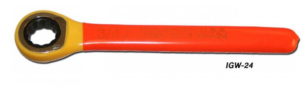 Cementex Insulated Metric Ratcheting Box End Wrench