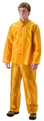 nasco worktruff 600j lightweight waterproof yellow rain suit